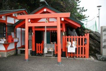 The shrine around the cave where the sun goddess once hid...