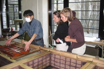 First step of paper making process