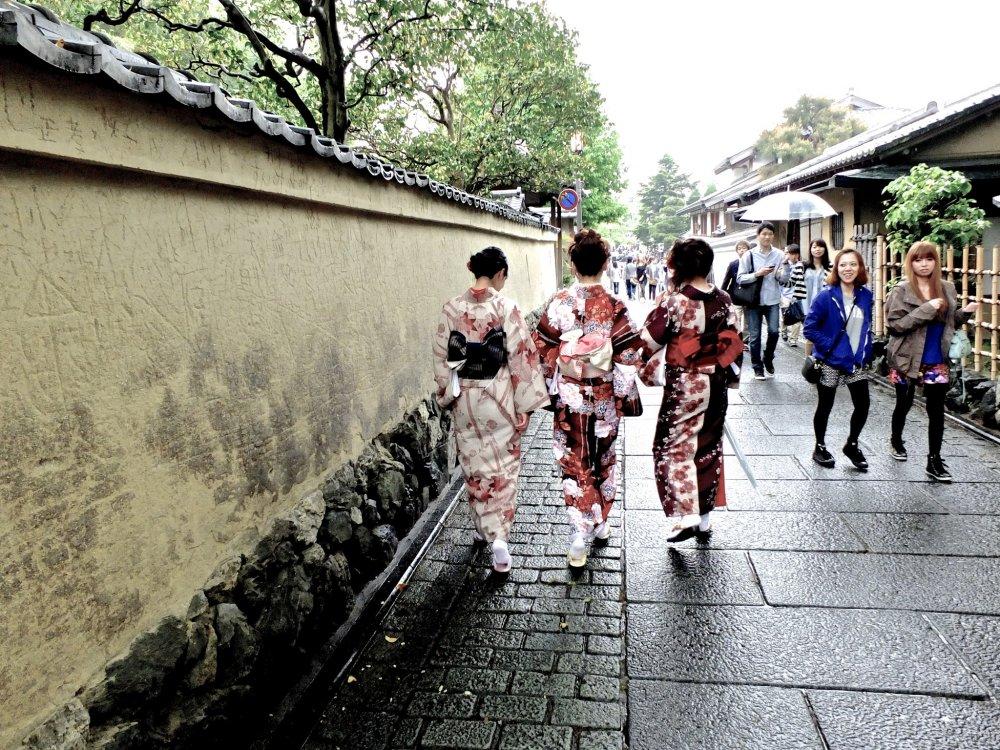 Le quartier de Higashiyama était frais et vivant