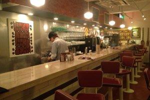 Nostalgic diner atmosphere