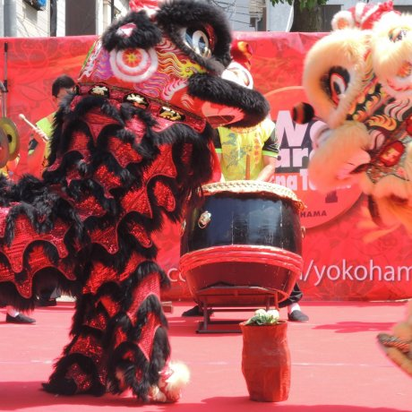 Lion Dances in Yokohama Chinatown
