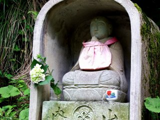 Another Jizo statue on the path. There were four statues lining the road