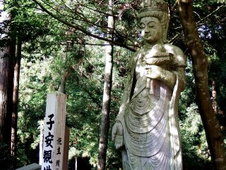 Statue of goddess of mercy for children on the grounds of Daian-zenji Temple