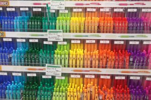 Some of the ten million kinds of pens at TokyuHands