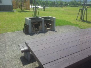 Full equipped BBQ area with seating