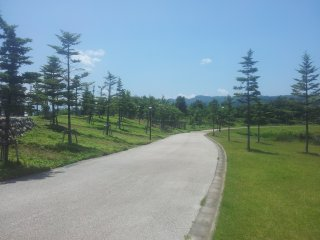 Paved path around the park perfect for strolling