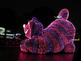 Tokyo Disneyland's Electrical Parade: Cheshire Cat from Alice in Wonderland