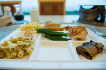 <p>Plates with individual sections mean you can try a host of foods at the same time</p>