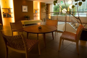 <p>Part of the gorgeous spa waiting room</p>