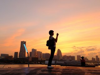 大さん橋は横浜で一番ロマンティックなスポットだ