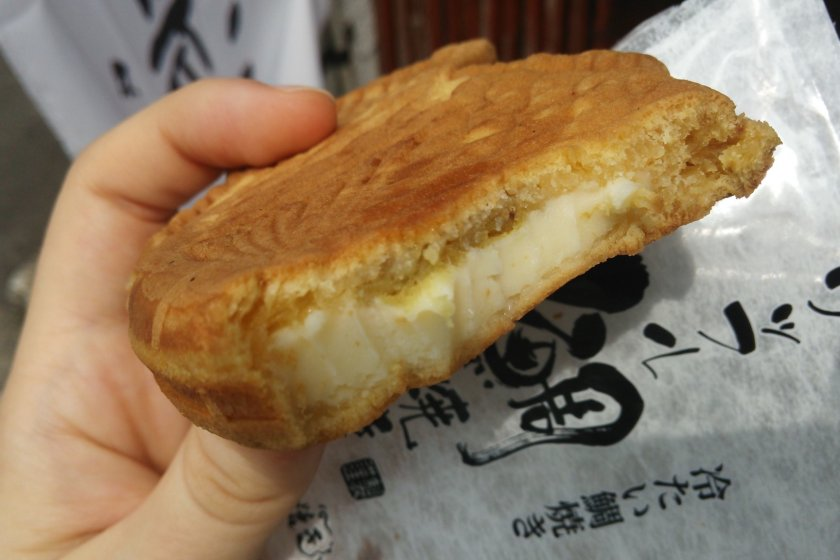 This is one of their cold taiyaki, with a sweet potato and creamy custard filling