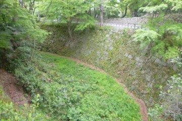 Inner moat surrounding Okazaki Castle.