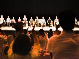 The closing ceremony, where all performers return to the stage to be recognized by the audience for their performance.