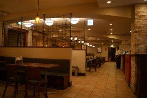 Dentro do restaurante de Umeda