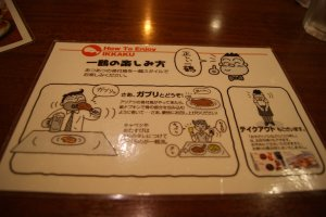 Study how to eat at Ikkaku in advance