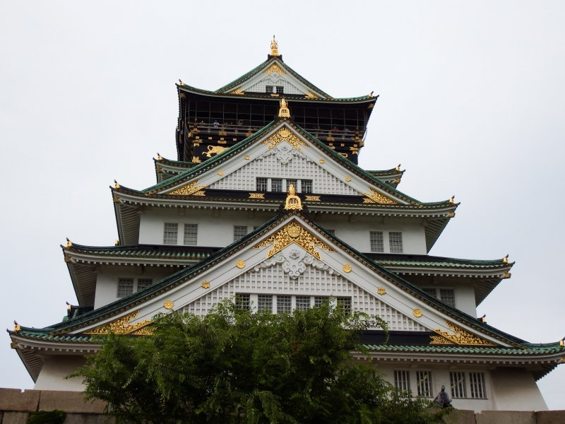 <p>This is your final destination, the main tower of Osaka Castle!</p>