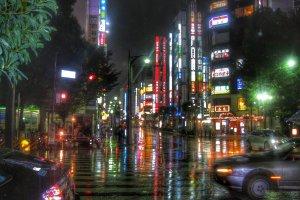 Дождливая ночь в Икэбукуро