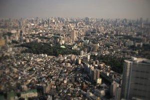 La vue depuis la plateforme d'observation de la Sunshine City