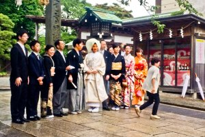 I was lucky enough to see a  traditional Shinto-style wedding ceremony on this occasion