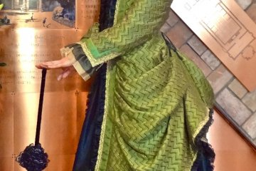 In the museum, you can actually try on some of these classic dresses!
