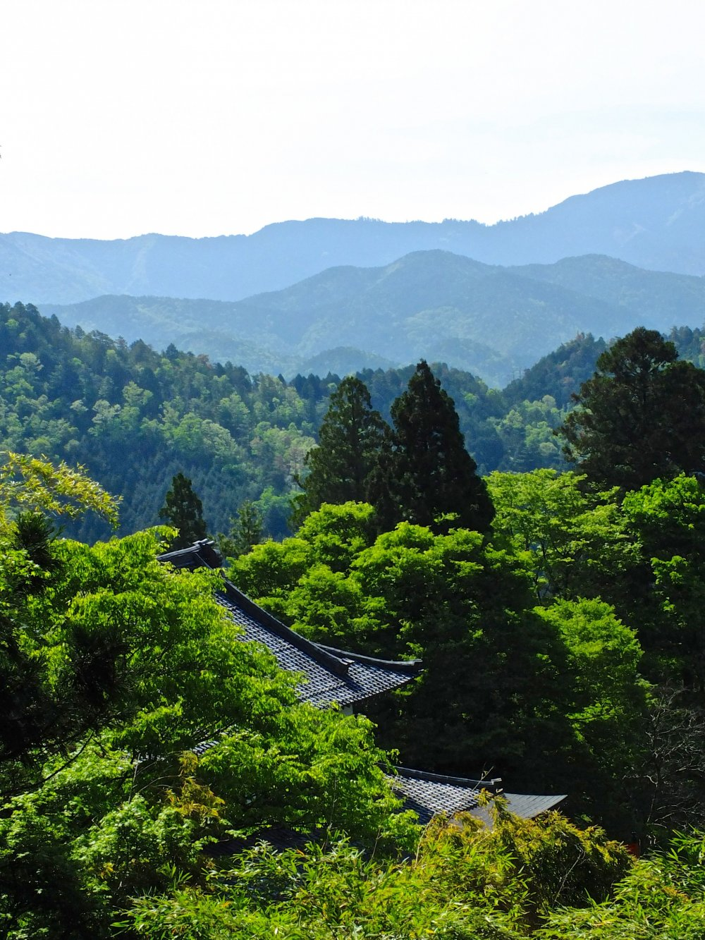 View from Kurama Temple, just before setting off for Kibune