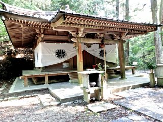 Hiking over the mountain, from Kurama to Kibune, you will suddenly come upon some small shrines/temples