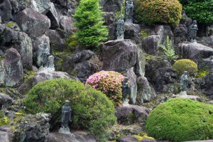 Statues amidst the rocks