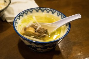 The ox tail soup