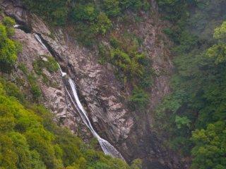 น้ำตกนุโนบิกิ (Nunobiki Waterfall) ถ่ายจากบน ropeway