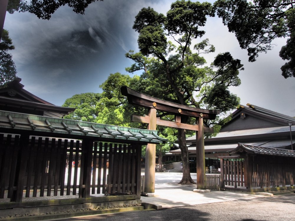 Torii (the Shrine Gates), made from Japanese cypress