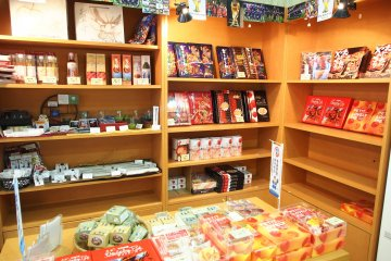 <p>Various Aomori gifts are available from the hotel lobby</p>