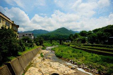 <p>Outside Yamadera Station as you approach Yamadera</p>