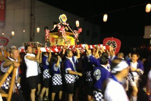 "The ""mikoshi"" shrine toss and carry"