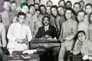 Foto Doi Bansui bersama beberapa muridnya