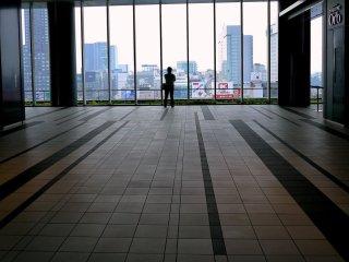 Cửa sổ kính trong suốt từ trần đến sàn trên tầng 11 cho tầm nhìn tuyệt vời