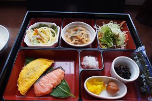 The hotel's Japanese breakfast