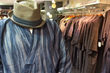 <p>There is also a men&#39;s Yukata section at Marui City department store.</p>