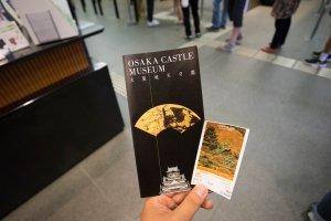 Panfleto de informação e bilhete