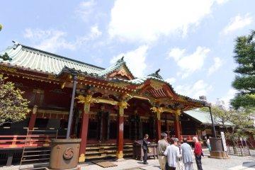 <p>Main shrine building</p>