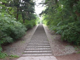 280 stone steps leading to the original site of Dainenji temple
