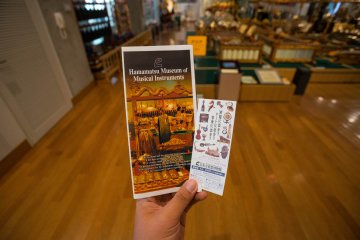 <p>Ticket and information brochure</p>