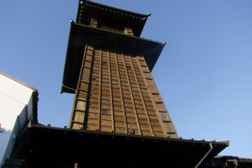 <p>The tower stands three stories tall</p>