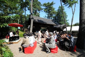 An outdoor tea ceremony