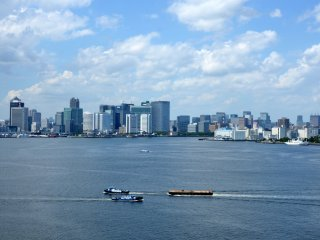 A view of Tokyo Bay.