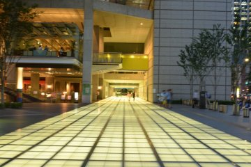 <p>Beautiful lighted tiles outside of Tokyo International Forum &nbsp;</p>