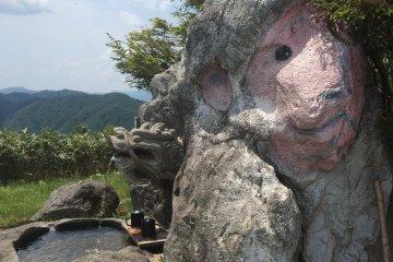 A monkey stone? And a small waterhole.