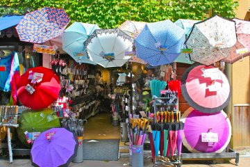 <p>Parasols or umbrellas will come in handy no matter where one lives. Choose from Anti-UV or a standard umbrella shade printed with radiant designs.</p>