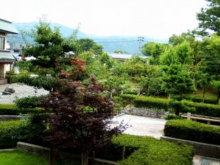 Kasumigajo Park viewed from the stone steps leading to it