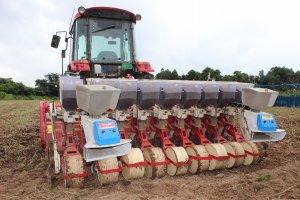 蕎麦で収益を上げる仕事を効率的に行うにはこれくらいのサイズのトラクターが必要になってくる
