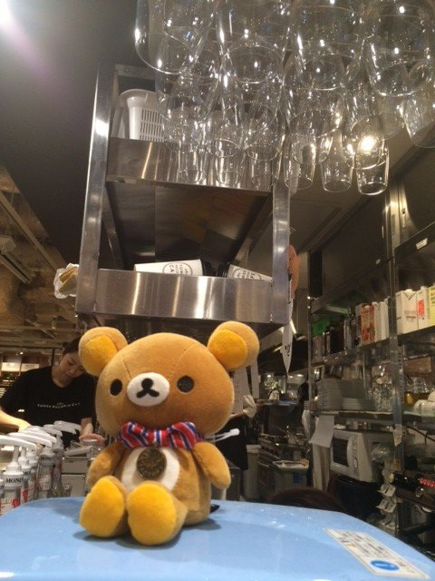 Rilakkuma in the kitchen